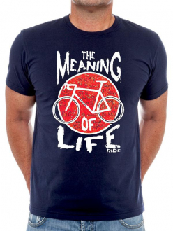 MAJICA MEANING OF LIFE PLAVA CYCOLOGY