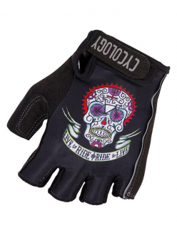CYCLING GLOVES DAY OF THE LIVING CYCOLOGY