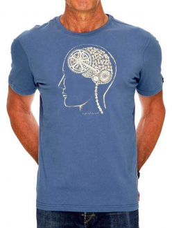 T-SHIRT BIKE BRAIN BLUE CYCOLOGY