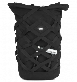 BACKPACK WICKER BLACK BRAASI